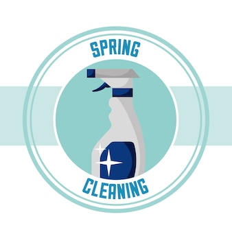 Spring cleaning concept