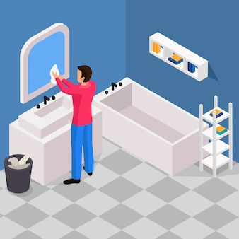 Spring cleaning isometric