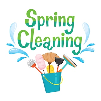 Spring cleaning letter decorating and cleaning equipment