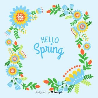 Spring colorful frame background