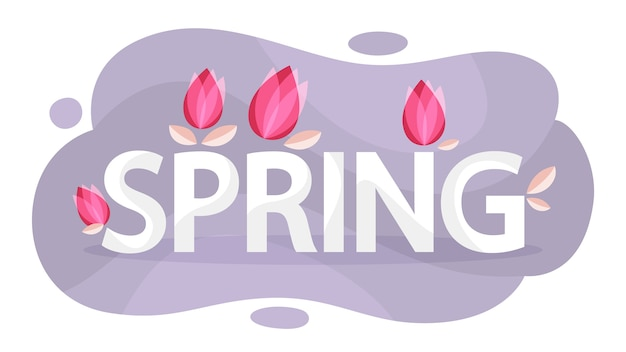 Spring concept. flower on background. greeting card