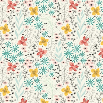 Spring daisy flowers pattern
