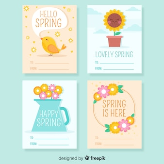 Spring elements card set