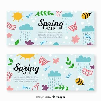 Spring elements sale banner