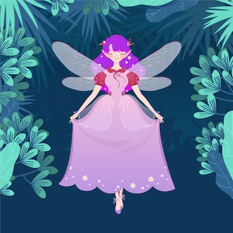 Spring fairy in the jungle
