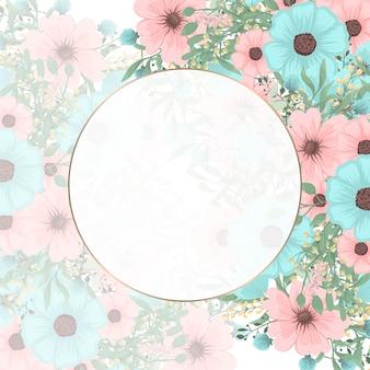 Spring floral background flower border