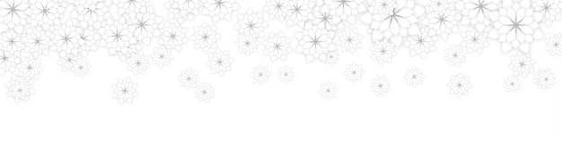 白いフラットスタイルのエレガントな花と春の花のバナーの背景デザイン