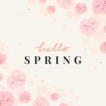 Spring floral border illustration