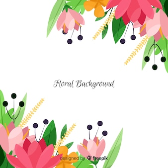 Spring floral corners background
