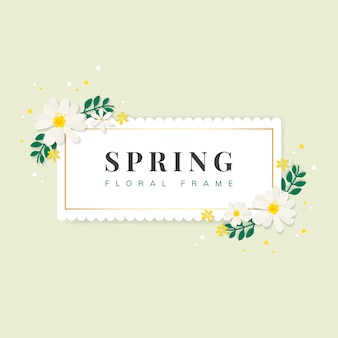 Spring floral frame illustration