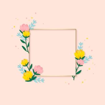 Spring floral frame illustration