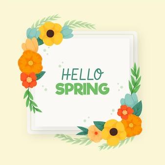 Cornice floreale di primavera