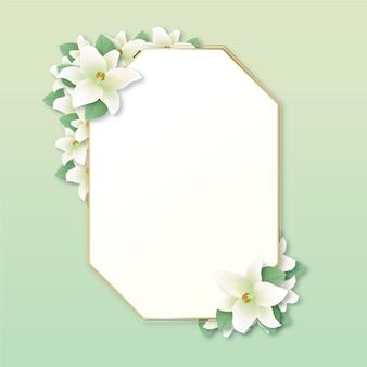 Spring floral frame