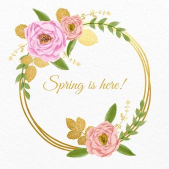 Весенняя цветочная рамка