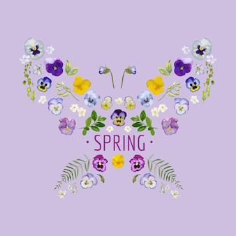 Spring  floral graphic design for tshirt