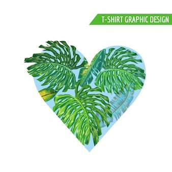 春花ハート熱帯の花のデザイン