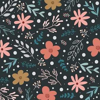 Spring floral pattern or background