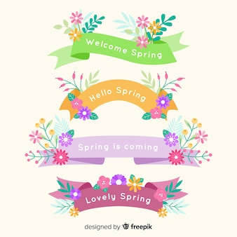 Spring floral ribbon collection