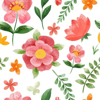 Spring floral seamless pattern. hand drawn   watercolor illustration.