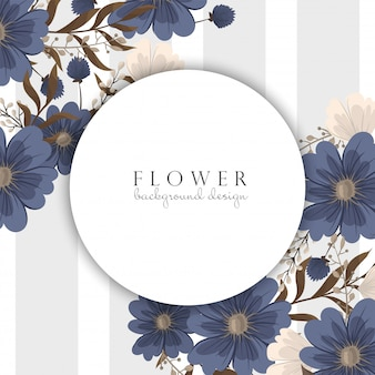 Spring flower boarder - blue flower