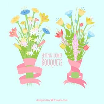 Mazzi di fiori di primavera impostati