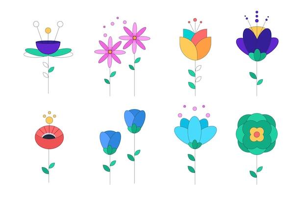 Collezione di fiori primaverili