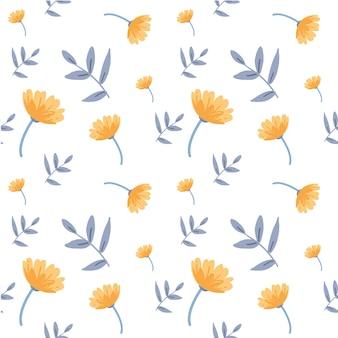 春の花のパターンセット