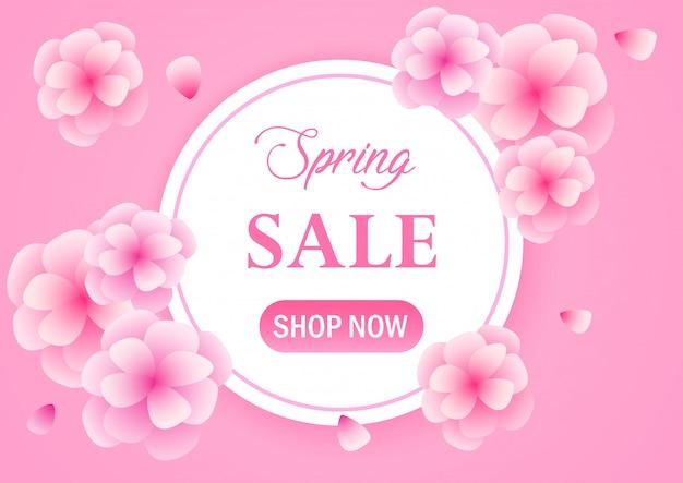 Spring flower sale banner