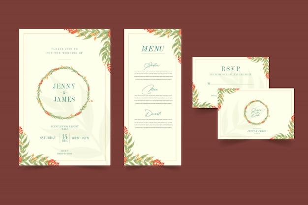 Spring flower wedding invitation