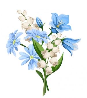 春の花の花束。図。
