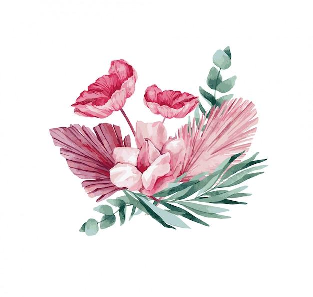 春の花、イラスト。