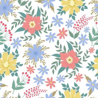 春の花のシームレスなパッテン