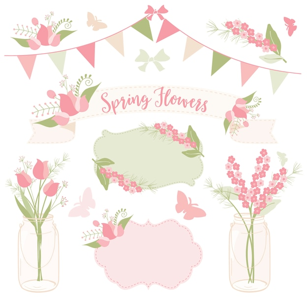 Spring flowers for tea party