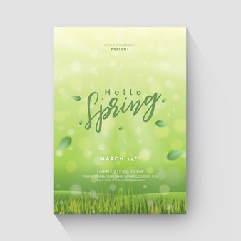Spring flyer with bokeh