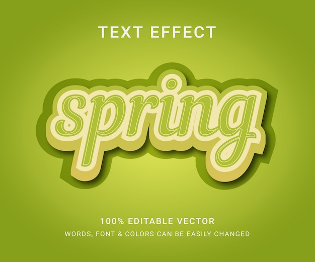 Spring full editable text effect