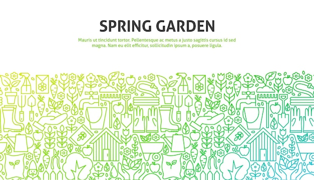 Spring garden concept. vector illustration of nature infographics circle with icons.