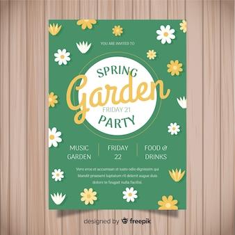 봄 정원 파티 전단지