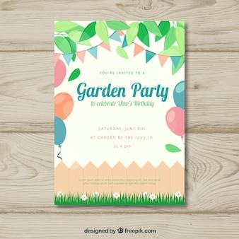봄 정원 파티 초대장