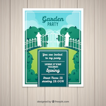 Spring garden party invitation