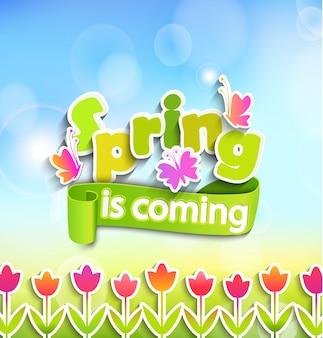 Spring - greeting card.