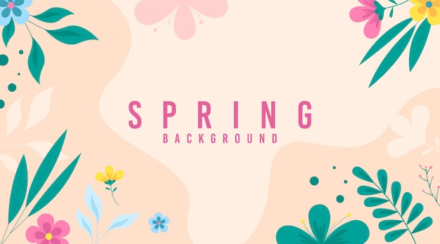 Spring  illustration . flowers of spring
