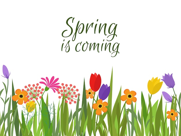 Весна идет фон