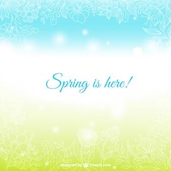 春はここにカードです