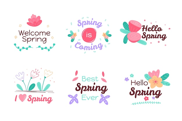Spring label collection theme