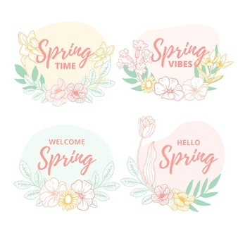 Spring label collection