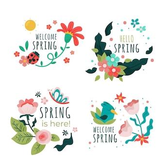 봄 라벨 컬렉션