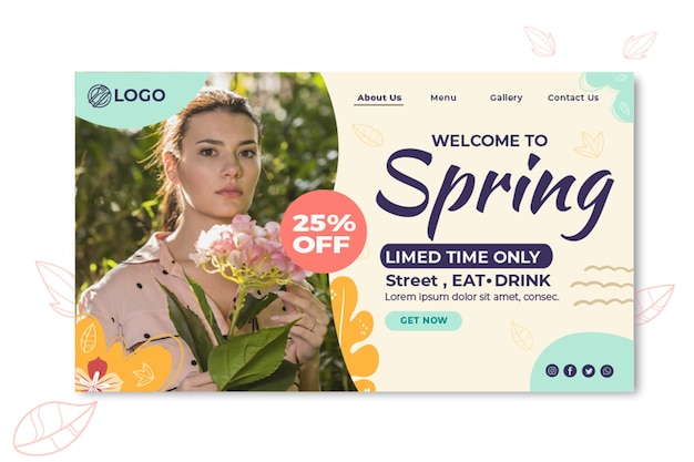 Pagina di destinazione di primavera