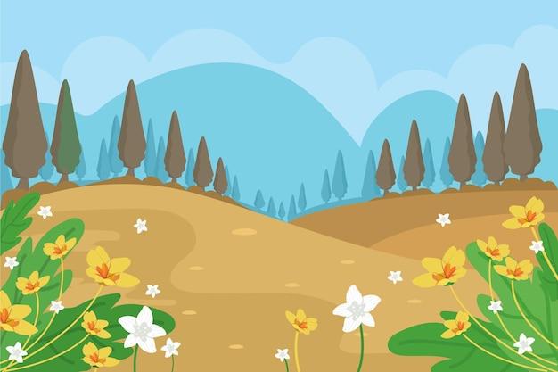 春の風景カラフルなシーン