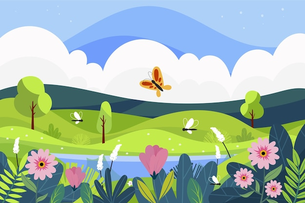 春の風景シーン