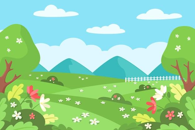 Spring landscape scene